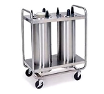 Lakeside 7212 Mobile Dish Dispenser w/ 2-Self-Leveling Tubes, 12.25-in, Stainless