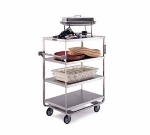 Lakeside 745 Utility Cart w/ (4) 21 x 33-in Shelves, Push Handle, 700-lb