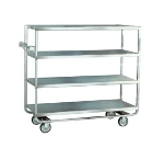 Lakeside 761 Tray Truck w/ (4) 21 x 49-in Open Shelves & Handle, 700-lb Capacity