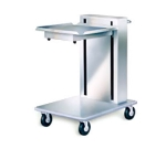 Lakeside 814 Single Mobile Cantilever Tray Dispenser w/ Self-Leveling Platform