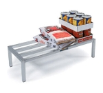 Lakeside 9081 48-in Dunnage Rack w/ 4-Lateral Bars, 2000-lb Capacity, Aluminum