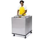 Lakeside 908 Mobile Dish Dispenser Cabinet w/ (4) Self-Leveling Tubes, 6-in