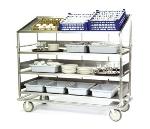 Lakeside B597 Soiled Dish Breakdown Cart w/ 1-Flat & 3-Angle Shelves, 75.5-in
