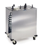 Lakeside E6208 Mobile Heated Plate Dispenser w/ 2-Tubes, Up To 8-1/8-in Dish
