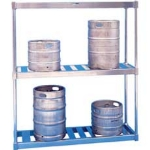 Win-Holt BKR-80/E 80-in Keg Rack w/ 8-Keg Capacity
