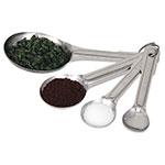Browne Foodservice 2316 Stainless Measuring Spoon Set: 1/4, 1/2, 1-teaspoon & 1 Tablespoon