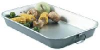 Browne Foodservice 5480 Bake & Roast Pan, 11-3/8 x 17-1/4 x 2-1/4 in, Aluminum, Loop Handles
