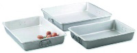 Browne Foodservice A12183 Roast Pan, 12 x 18 x 3 in, Aluminum, w/ Square Loop Handles