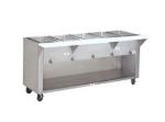 Supreme Metal HF-5E-208/240-BS 34-in Hot Food Table w/ 5-Wells, Cabinet Base w/ Open Undershelf