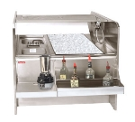 Supreme Metal PR-46X42SP-10-R 46-in Double Service Station w/ Right Pass-Thru Ice Bin, 174-lb Ice