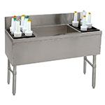 Supreme Metal PRC-24-48LR-10 48-in Ice Chest w/ Left & Right Storage Rack, 32/70/32-lb Ice