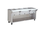 Supreme Metal HF-3G-NAT-BS 34-in Hot Food Table w/ 3-Wells, Cabinet Base w/ Open Undershelf, NG