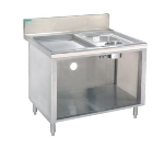 Supreme Metal PRWC-19-42 42-in Open Wet Dry Waste Cabinet, 4-in Splash Mount Faucet