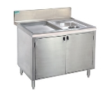 Supreme Metal PRWC-19-30-DR 30-in Wet Dry Waste Cabinet w/ Hinged Doors, Splash Mount Faucet