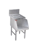 Supreme Metal PRDB-24-16 16-in Blender Recess w/ 1-in Drain, 29-in Front To Back, Stainless