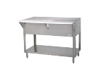Supreme Metal STU-2-DR Solid Top Table w/ Cabinet Base w/ Sliding Doors, 31-13/16-in, Stainless