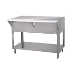 Supreme Metal STU-4-BS Solid Top Table, Cabinet Base w/ Open Undershelf, 62-3/8-in, Stainless