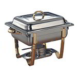 American Metalcraft ALLEGRT05 Half Size Chafer, 5-qt, Stainless w/ Gold Accents