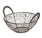 American Metalcraft AWB11 Scribble Basket, 11 in Dia., Black Wire, Gold Pattern