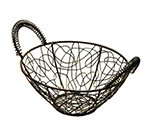American Metalcraft AWB8 Scribble Basket, 5 in Dia., Black Wire, Gold Pattern