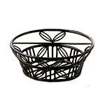 American Metalcraft BLLB81 Bread Basket, 8 in Dia., Black Leaf Design, Wrought Iron