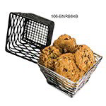 American Metalcraft BNRB64B Birdsnest Riser/Basket, 6 in sq. x 4 in sq. Bottom x 4 in H, Black