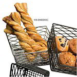 American Metalcraft BNRB86B Birdsnest Riser/Basket, 8 in sq. x 8 in sq. Bottom x 4 in H, Black