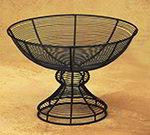 American Metalcraft BPB139 Pedestal Basket, 13 in Dia. x 8-1/2 in H, Black Wire