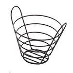 American Metalcraft BWB750 Basket, Round, 7 in Dia. x 5 in H, Black