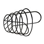 American Metalcraft BWB965 Basket, Round, 9 in Dia. x 6-1/2 in H, Black