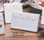 American Metalcraft CCHL1 Menu Card, 2-1/2 in, Square, Leaf Pattern, Ceramic