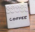 American Metalcraft CCHS2 Menu Card, 2-1/2 in, Square, Scroll Pattern, Ceramic