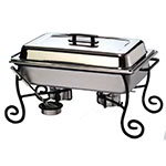 American Metalcraft CF1 Chafer Frame And Cup, Wrought Iron, Chafer Not Included