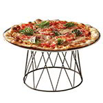 American Metalcraft DPS797 Contempo Drum Pizza Stand, 9 x 7 x 7 in H, Black Wrought Iron