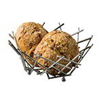 American Metalcraft FRUC10 Thatch Basket, 8 in dia. x 3-5/8 in H, Brushed Copper Finish