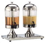 American Metalcraft JUICE2 Twin Station Juice Dispenser, S/S, Ice Tube, Drip Tray, 8-1/2 Qt.