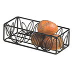 American Metalcraft LFBB1253 Basket, 12 in x 5 in, Black Leaf Design, Wrought Iron