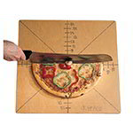 American Metalcraft MPCUT4 Pizza Cutting Board And Guide, 4 Or 8 Slice, Pressed Wood