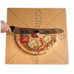 American Metalcraft MPCUT6 Pizza Slice Cutting Board And Guide, 6 Slice, Pressed Wood
