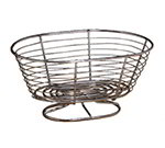 American Metalcraft OBC107 Basket With Pedestal Base, Oval, 10 in x 7 in x 4-3/4 in, Chrome