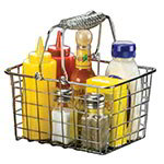 American Metalcraft RBHC759 Basket With Double Handle, Rectangular, 9 in x 7 in x 5 in, Chrome Wire