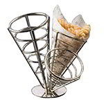 American Metalcraft SS33 Ironworks Basket, 3-Cone Basket, 10-1/2 dia x 10-1/2 in H, Conical, Black