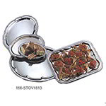 American Metalcraft STOV1813 Affordable Elegance Serving Tray, Oval, 18 in x 13 in, Embossed, Chrome