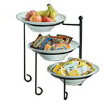 American Metalcraft TTRS3 Display Stand, 3 Tier, Black Wrought Iron