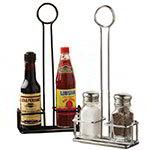 American Metalcraft WSPR3C Salt/Pepper Rack, 5-3/16 in L x 2-1/14 in W x 12 in H, Round Top, Chrome
