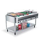 Vollrath 38004 ServeWell Hot Food Table, 4 Well, 300 Series Stainless Steel