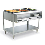 Vollrath 38103 46.5-in Hot Food Table w/ 3-Wells, Plate Shelf & Cut Board, 120 V