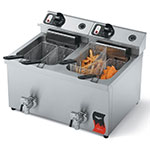 Vollrath 40710 30-lb Countertop Dual Fry Pot Fryer w/ Twin Baskets, 220 V