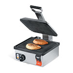 Vollrath 40790 Panini Grill w/ Non Stick Grooved Upper & Lower Plates, 110V