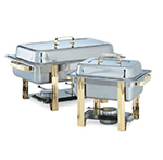 Vollrath 46320 Odyssey Chafer, 9 qt, Full Size, Stainless w/ Gold Accents